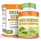 Earths Design Green Tea Extract for Dieting and Slimming, 850mg Green Tea Capsules with EGCG to Burn Fat, Maximum Strength Supplement for Fast Weight Loss, Powerful Antioxidant - 120 Capsules by Earths Design