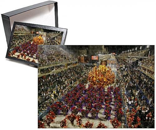 Photo Jigsaw Puzzle of Carnival parade at the Sambodrome, Rio de Janeiro, Brazil, South America (2)