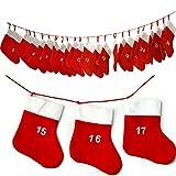 JEMIDI Adventskalender Kette Adventskette zum befüllen Selbstbefüllen (...und jedes Jahr wiederverwendbar!!!)