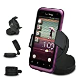 Fone-Case HTC Rhyme In Car Mini 360 Rotating Windscreen Cradle Mount Mobile Phone Holder