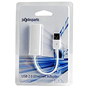 JacobsParts USB to Ethernet LAN Wired Network Adapter for Windows, Mac, Linux