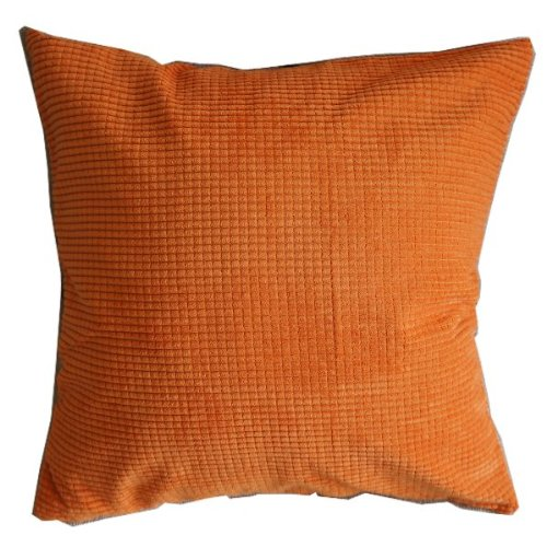 Solid Orange Corn Kernels Pattern Polyester Throw Pillow Covers Pillowcase Sham Decor Cushion Slipcovers Square 17x17 Inch