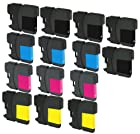 14 Pack Compatible Inkjet Cartridges for Brother LC-61 LC61 LC 61, LC-61BK LC-61C LC-61M LC-61Y Compatible With Brother DCP-165C, DCP-375CW, DCP-385CW, DCP-395CN, DCP-585CW, DCP-J125, MFC-250C, MFC-255CW, MFC-290C, MFC-295CN, MFC-490CW, MFC-495CW, MFC-5490CN, MFC-5890CN, MFC-5895CW , MFC-6490CW, MFC-6890CDW, MFC-790CW, MFC-795CW, MFC-990CW, MFC-J220, MFC-J265w, MFC-J270W, MFC-J410W, MFC-J415W, MFC-J615W, MFC-J630W (5 Black, 3 Cyan, 3 Magenta, 3 Yellow) 14PK by Aria Supplies ®