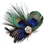 TPT Unique Design of Peacock Feather Hair Accessories for Women