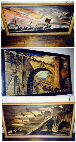 Vincent Korda original watercolor paintings - Michael Todd Don Quixote art