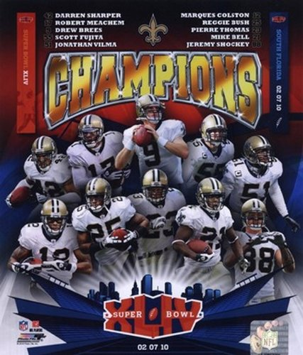 New Orleans Saints Super Bowl XLIV Champions Composite Football Photo (8 x 10) at Amazon.com