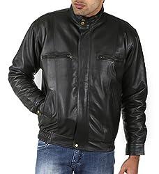 Shagoon Emporium Men's Leather Jacket(sh10000_Black_Small)