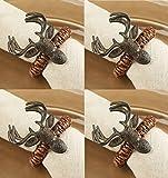 Mud Pie Lodge Reindeer Napkin Rings, Set of 4