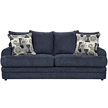 Flash Furniture Exceptional Designs Chenille Sofa, Caliber Navy