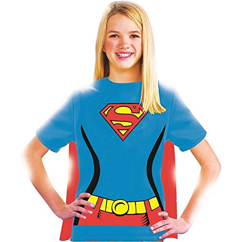 Supergirl Shirt Kids Costume Kit - Small