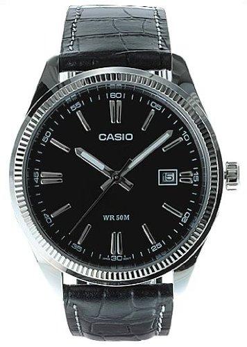Casio MTP-1302L-1A - Reloj analógico de cuarzo para hombre, correa de cuero...