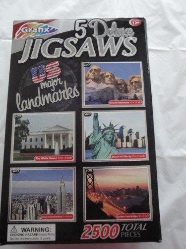 Major U.S. Landmarks - 5 Puzzles By Grafix - 500 Pieces Each