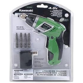 Kawasaki 840889 4-Volt Dual Angle Li-Ion Screwdriver