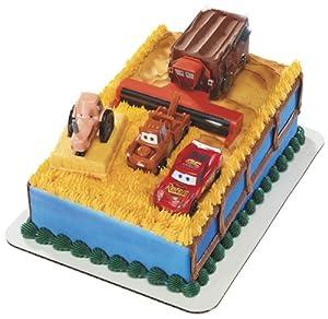 Amazon.com: Disney Cars Tractor Tipping Signature DecoSet Cake Topper