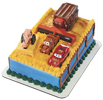 buy decopac disney cars tractor tipping signature decoset cake on birthday cake toppers online india