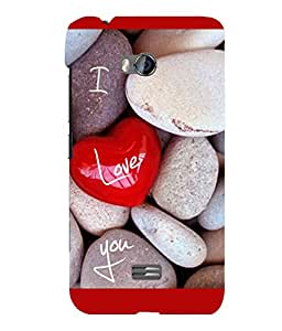 printtech I Love You Stones Back Case Cover for Micromax Bolt Q336