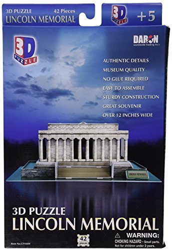 Daron Lincoln Memorial 3D Puzzle, 42-Piece