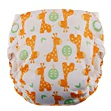 Blueberry Side Snap Simplex All in One Diapers, Giraffes, Large