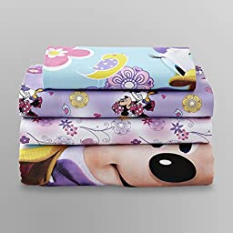 Baby Toddler Girl\'s Bedding Set Disney Minnie Mouse 4 Piece Bedsheet Set