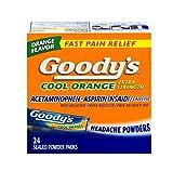 Goody's Cool Orange Extra Strength, Analgesic Powder, 24 Count