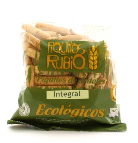 Piquitos Rubio Organic Wholewheat Breadsticks (Piquitos Integrales) 120g