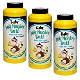 Baby Anti-Monkey Butt Diaper Rash Powder 6oz. Bottle - 3 Pack