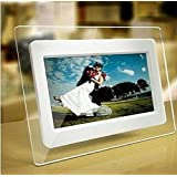 7 Inch TFT LCD Wide Screen Digital 2000 Photos Display Frame with Calendar Support Tf Sd /Sdhc /Usb Flash Drives(white)- Support 32GB SD Card