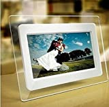 7 Inch TFT LCD Wide Screen Digital 2000 Photos Display Frame with Calendar Support Tf Sd Sdhc Usb Flash Drives(white)- Support 32GB SD Card