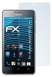 atFoliX Huawei Ascend G615 Displayschutzfolie (3 Stück) - FX-Clear, kristallklare Premium Schutzfolie
