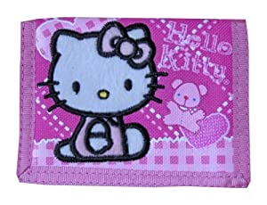 Hello Kitty Trifold Wallet (Heart & Bear) - Pink by Sanrio