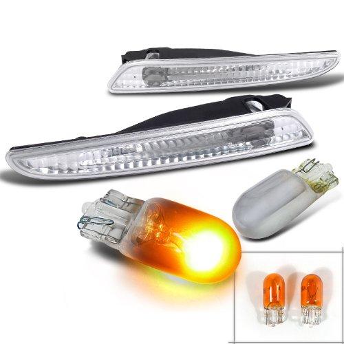 Mercedes Benz W211 E-Class Chrome Clear Bumper Lights+T10 Chrome/Amber Bulbs (Mercedes E320 Clear Corner Lens compare prices)