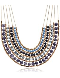 Accessorize Choker Necklace For Women (Blue) (5045460942854)