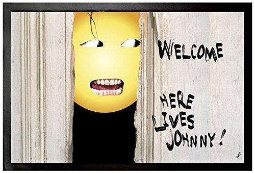 Emoticon - Emoji Shining, Welcome, Here Lives Johnny Zerbino (60 x 40cm)