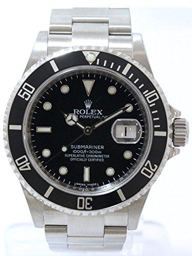 研磨済み!ROLEX(ロレックス) サブマリーナ ルーレット ブラック 16610T 黒文字盤 M番 ステンレススチール(SS) オートマティック(自動巻き) メンズ 【中古】 腕時計