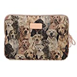 Maybefly Dogs Vintage Portable Antishock Waterproof Canvas 15.6 Inch Laptop / Notebook/ Computer / MacBook / MacBook Sleeves Case Covers for Lenovo/Apple/Asus/HP/Acer etc.