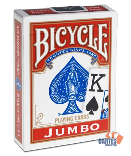 Jeu Bicycle jumbo index Rouge (US Playing Card Company)