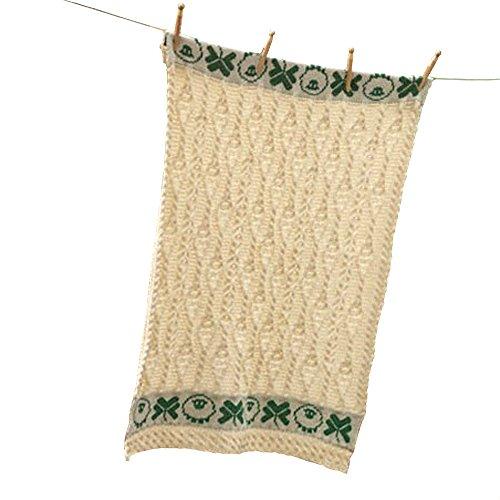 Carraig Donn 100% Irish Merino Wool Baby Blanket with Sheep and Shamrock Design
