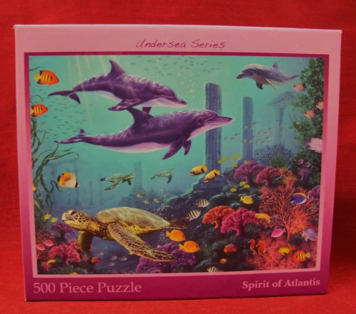 500-piece Jigsaw Puzzle from the UnderSea Series: SPIRIT OF ATLANTIS (dolphins) - 1