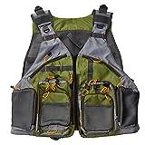Your Supermart Fashion Men and Women Fly Fishing Vest Mesh Vest Adjustable Size