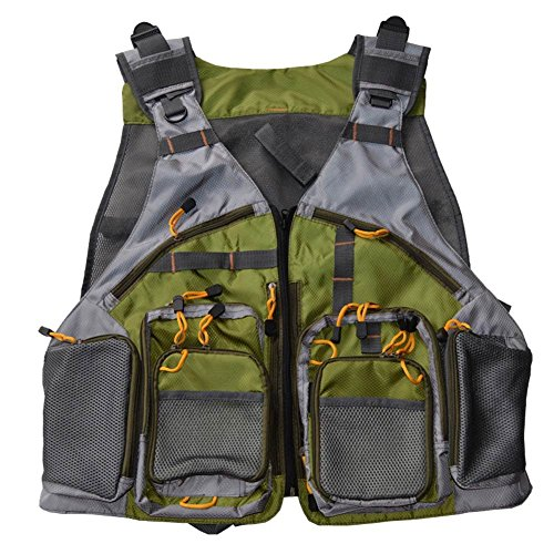 Your Supermart Fashion Men and Women Fly Fishing Vest Mesh Vest Adjustable Size