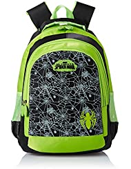 Simba 16 Inches Black And Green Children's Backpack (BTS-2086)