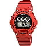 "Casio Unisex W-214HC-4AVCF ""Classic"" Red Resin Watch"