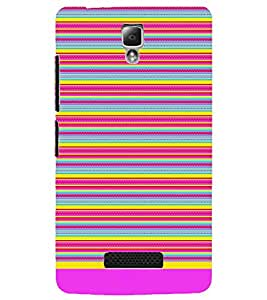 PrintDhaba Tribal Pattern D-1727 Back Case Cover for LENOVO A2010 (Multi-Coloured)