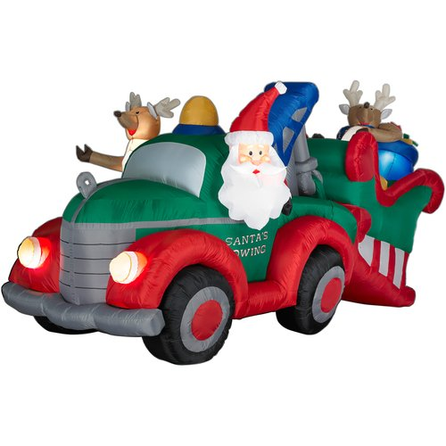 Santa Towing Sleigh 4 3/10 Ft. Animated Christmas Airblown Inflatable