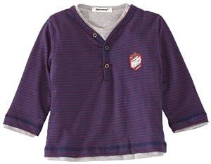 3 Pommes - Camiseta con cuello de pico de manga larga para bebé