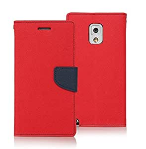 SENSHI Mercury Goospery Flip Cover for Asus Zenfone 5 - Diary Case cum Wallet (RED & BLUE)