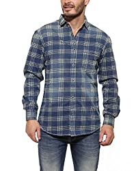 Spykar Men Cotton INDIGO Casual Shirt (XX-Large)