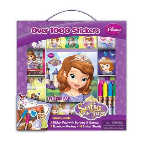 17201 Features: -Includes 14 sticker sheets, sticker pads, 4 markers. -Sofia collection. Product Type: -Stickers. Dimensions: Overall Product Weight: -0.45 Pounds. Overall Height - Top to Bottom: -9.88 Inches. Overall Width - Side to Side: -8.5 Inche...