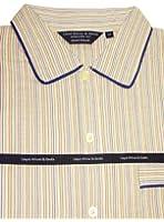 Lloyd Attree & Smith - Chemise de Nuit Homme, Doux et Confortable - 100% Coton - Multi Rayé