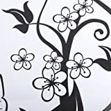 Home Decor Flowers Butterfly Removable Wall Paper Stickers Art